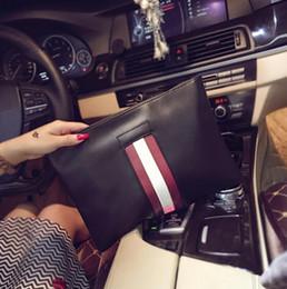 Wholesale Large Black Envelopes - wholesale brand fashion leather shoulder bag bag fringe men leisure soft leather hand bag envelope trend of large capacity Leather Satche