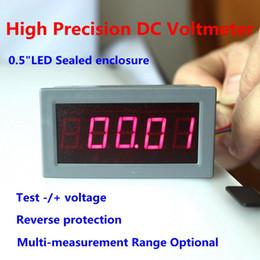 """Wholesale Led Digital Voltage Panel Meter - Wholesale-DC Digital Voltmeter Voltage Panel Meter LED Red Display 0.56"""" 5 Digits Four Wires High Precision Range + -200mV 2V 200V 600V"""