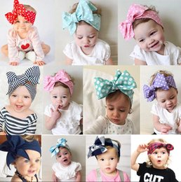 Wholesale Toddlers Head Wraps - 3Pcs set Cute Kids Girl Baby Toddler Bow Headband Hair Band Accessories Headwear Head Wrap Fashion