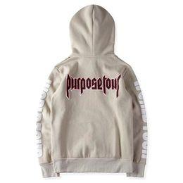 Wholesale Kpop Pullover - Purpose tour hoodie men justin bieber hip hop streetwear kpop clothes women harajuku hoodies kanye y ee zus sweatshirt pullover