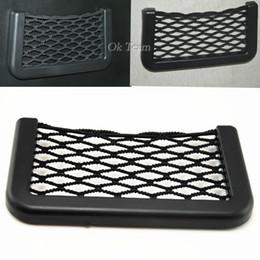 Мешок стороны сотового телефона онлайн-Универсальная многофункциональная эластичная сетчатая сумка для хранения шнура сотового телефона Маленькие предметы, предназначенные для двухсторонней клейкой ленты 3M