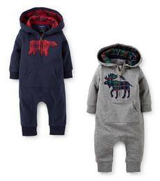Argentina 2016 primavera y otoño nuevo estilo bebé niño y niña Climb ropa bebé Romoers niños encapuchados monos de una pieza prendas de vestir para niños. Suministro