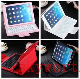 Wholesale Apple Ipad Leather Case Keyboard - Removable Bluetooth Wireless Keyboard leather case for ipad mini 4 Samsung Galaxy tab S S2 A E T230 T350 T700 T710 T280 Stand