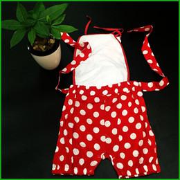 2019 ceinture rouge bébé une pièce bébé filles barboteuses sans manches rouge point noir ceinture floral charmant style bloomers enfants combinaisons enfants vêtements rapide livraison gratuite ceinture rouge bébé pas cher