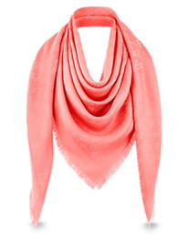 Wholesale Heart Silk Rose - Red Rose L Brand Check Wool Cotton Cashmere Silk Scarves Scarf Wrap Shawl Pashmina 140x140cm