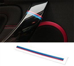 Wholesale Change Door Handle - Car Styling    Tricolor Vinyl decal sticker car door handles decoration decals for BMW E90 F30 F10 E46 E36 1 3 5 series X1X3X5X6