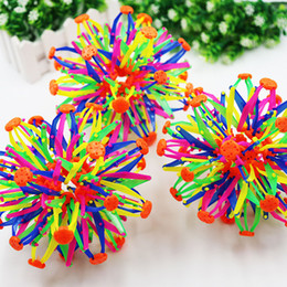 Wholesale Toy Sphere Balls - 2016 New Expanding Sphere Mini Ball Kids Toy Rainbow Colorful Flower Magic Ball Lay In Children's Toys Free Shipping