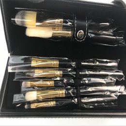 Wholesale Brush Printing - Stock Clearance 9Pcs Print Logo Makeup Brushes Professional Cosmetic Make Up Brush Set The Best Quality