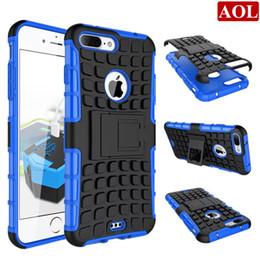 Wholesale Iphone 5s Stand Case - For iphone 7 7plus 6 6s plus 5 5s SE 5C Hybrid Kickstand Rubber Armor Hard PC+TPU Stand Function Cover Cases free gifts