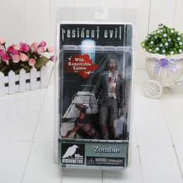 Wholesale Neca Toys Resident Evil - NECA Official Resident Evil 10th Anniversary Zombie Action Figure Toy Doll Gift for Halloween approx 18cm