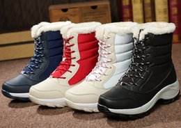 Wholesale Lace Up Red Boot Wedges - 2016 new winter shoes. Women's Boots. Students shoes. Snow boots. Thick base. Warm shoes. Cotton boots. Antiskid shoe. Winter shoes.