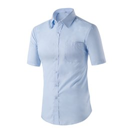 Wholesale Mens Import Clothing - Wholesale-2016 new fashion mens solid shirt white casual business men shirts imported clothing shirt men cotton