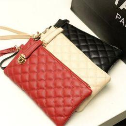 Wholesale Buckle Clutch - New Buckle Vintage Day Clutch Women Purse and Handbag PU Laeather Wallet Long Type Wristlets Bag