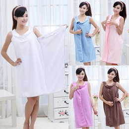 Wholesale Fasting Spa - Bath Wear Bath Towels Fashion Woman Wearable Fast Drying Magic Bath Towel Beach Spa Bathrobes Bath Skirt