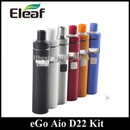 Wholesale Joyetech Dhl - Joyetech EGO AIO D22 Starter Kit 1500mah Built In Lipo Personal Vaporizer with SS316L Coil Head DHL Free