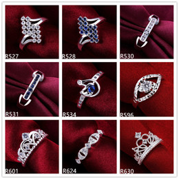Wholesale Cheap Stones For Rings - factory direct sale women's gemstone sterling silver ring 10 pieces a lot mixed style EMR35,online for sale cheap fashion 925 silver ring