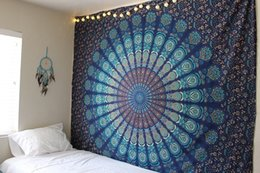 indian bedding Coupons - Hot Large Indian Blanket Mandala Tapestry Wall Hanging Boho Printed Beach Throw Towel Yoga Mat Table Cloth Bedding Home furnishing Decora