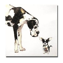 Wholesale cheap canvas paintings - Hand painted animal oil painting on canvas cheap price big dog oil painting for living room modern canvas art