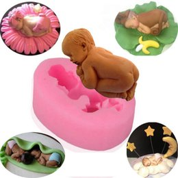 Wholesale Cake Mold New hot selling Fashion Cute DIY Baby Silicone Soap Fondant Mould Chocolate Sugarcraft Baking Tool