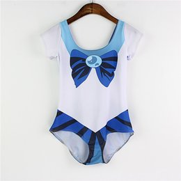 Wholesale Hot One Piece Bathing Suits - One Piece Bathing Sets Quick Dry Hot Sale Swimsuit Bottom Summer Beachwear Slim Wire Free Swimming Suit 3D Print Sailor Moon Swimsets LNSst
