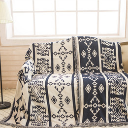 Wholesale Towel Stitch - Bohemian Sofa Blanket Cover decorative slipcover Throws on Sofa Bed Travel tapestry carpet Plaids stitching blankets Sofa Towel