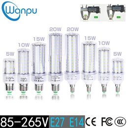 Wholesale E14 Smd Dimmable - 2835 SMD LED Corn Bulb 110V 220V E27 E14 No Flicker 5W 10W 15W 20W SCR Dimmable Energy Saving Lighting LED Corn Lamp