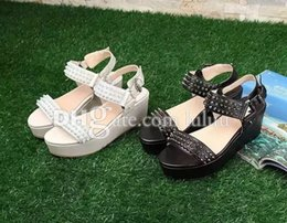 Wholesale Model Sandal Wedges - Wedge sandals explosion models counters designed unique upscale distinctive mark legendary sheepskin inner surface of the earth slip