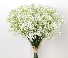 Wholesale Wholesale Artificial Flowers Vases - 30Pcs Stick In a Vase OF Gypsophila Artificial Flowers Table flowers Fake Babysbreath Silk Flowers Plant Home Wedding Decoration 105 - 1000B