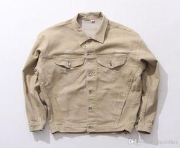 Wholesale Camel Color Winter Coat Men - 2016 New Style Europe and America Loves Dropped Shoulder Camel Color Cowboy Jacket Autumn Winter Loves Loose Sweatshirt Coat