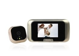 Wholesale Night Viewer - Hot New Wholesale 2.8 Inches TFT LCD Screen Digital Peephole Door Viewer Camera Night Vision Wide Angle Viewer Doorbell B482