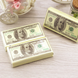 Wholesale Natural Tissue Paper - Wholesale- 100 Dollars Napkin Tissue Dollar Bill Paper Towel Natural Personality Popularity Wipe Hot Selling New