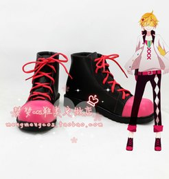 Wholesale Ren Shoes - Wholesale-VOCALOID Kagamine Rin Ren Cosplay Boots shoes #MM109