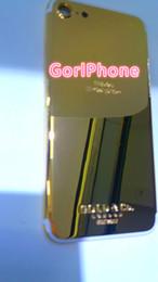 marco de londres Rebajas Real Gold 8mu Plating Volver cubierta de la cubierta de la piel puerta de la batería para el iPhone 7 7+ Luxury Chrome cromado marco Clear london golden co