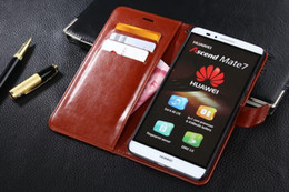 Wholesale Huawei Ascend Mate Phone Cases - For Huawei Mate 7 Case Cover 2016 Luxury Original Cute Hard Flip Phone Wallet Leather Case For Huawei Ascend Mate 7