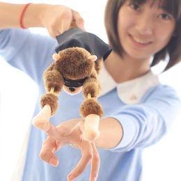 Wholesale Funny Slingshot - Wholesale- Peradix 1PCS Funny Doll Plush Slingshot Screaming Sound Flying Monkey Gifts for Children Boy Child