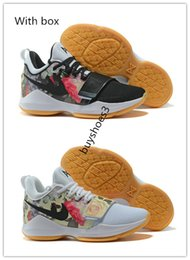 Wholesale Cheap Floral Print Tops - Top quality Paul George iD PG1 Floral Print Basketball Shoes for Cheap Sale PG 1 Los Angeles Home Sports Men's Sneakers Size 40-46