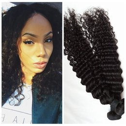 Wholesale Deep Curl Peruvian Hair - G-EASY Deep curly hair Bundles natural black 8-30inch Peruvian curl Hair extensions 100g per bundle