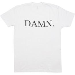 Wholesale Drake L - DAMN-KENDRICK-LAMAR-KDOT-HIP-HOP-RAP-TRAP-DRAKE-DANCE-KANYE-WHITE-DJ-T-SHIRT