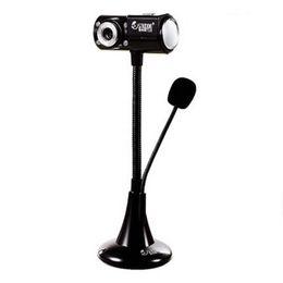Wholesale Web Brands - New Brand Webcam HD USB 2.0 Cameras Desktop PC Computer Web Camera With Microphone Night Vision Free Driver Laptop Web Cam