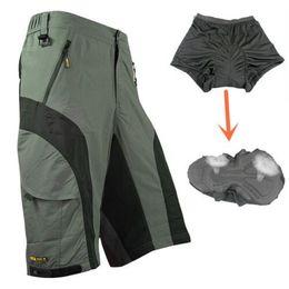 Wholesale Detachable Bike - SANTIC New Loose Cycling Shorts ciclismo MTB Bike Bicycle Running Shorts+3D Padded Underwear Detachable short