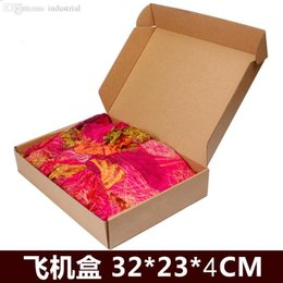 Wholesale Shirt Box Packaging - Wholesale-50pcs 23cm*32cm*4cm logo printing t-shirts kraft paper custom gift packaging box,corrugated paper shipping cake packing boxes