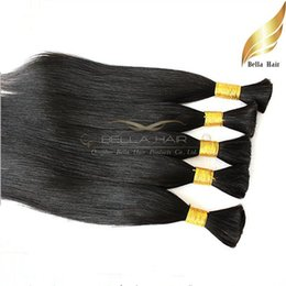 Wholesale 22 Zipper - 100% Human Bulks Hair Unprocessed Raw Hair 18 20 22 24 inch Natural Color Brazilian Silky Straight Hair Extensions