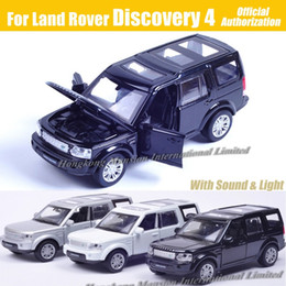 cars model lighting Coupons - 1:32 Scale Diecast Alloy Metal Car Model For Discovery 4 Collection Model Powerful Pull Back Toys Car With Sound&Light
