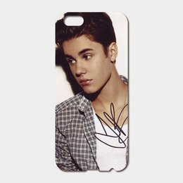 Wholesale Iphone Bieber - For iPhone 6 6S Plus SE 5S 5C 4S iPod Touch 6 5 case Hard PC Justin Bieber signed Phone Cases
