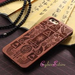 Wholesale Hard Wood Back Cover Case - For iphone7 6 7plus Fashion Wood Hard Wooden Protector Back Cases Cover For iphone 7 6S plus