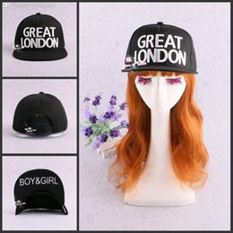 Wholesale London Wholesale Fashion For Man - Wholesale-Free shipping New 2015 Fashion Snapbacks GREAT LONDON Letters Boys Girls Flat Brim Cap Hip-hop Hats Baseball Caps For Men Women