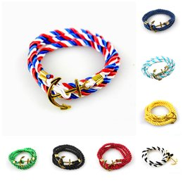 ancient gold charms wholesale 2018 - Charm Bracelets for Women men jewelry Navy wind DIY winding multilayer woven gold ancient bracelet femme tong tom hope Infinity Bracelet