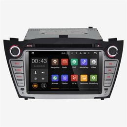 Wholesale Dvd Auto Gps Tv - Joyous 2016 Quad Core Android 5.1 Car DVD Player Car Radio Hyundai IX35 Tucson Stereo GPS Navigator Auto Radio Audio 1024*600with Canbus