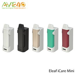 Wholesale Green Battery Charger - Original Eleaf iStick iCare Mini Kit 320mAh PCC 2300mAh Mod Matching with battery Charger 1.3ml Capacity Tank IC 1.1ohm Heads