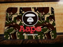 Wholesale American Mats - Skull & Aape Entrance Rug Coral Fleece Door Mat Non-slip Floor Mat 2Size 40*60cm 50*80cm 10 color